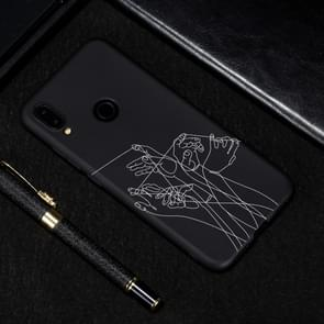 Five Hands Painted Pattern Soft TPU Case for Xiaomi Redmi Note 7