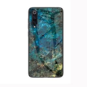 Marble Glass Protective Case for Xiaomi Mi 9(Emerald)