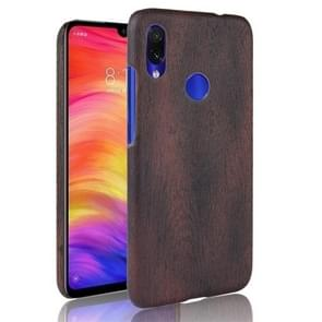 Wood Texture PC +PU Protective Case for Xiaomi Redmi Note 7(Black)