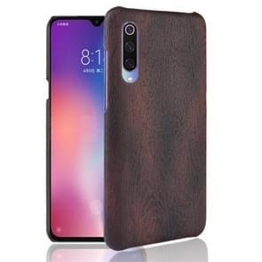 Wood Texture PC +PU Protective Case for Xiaomi Mi 9 SE (Black)