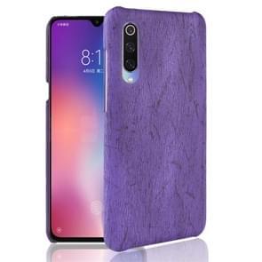 Wood Texture PC +PU Protevtive Case for Xiaomi Mi 9 (Purple)