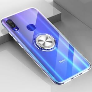 Ultra-thin TPU Protective Case for Xiaomi Redmi Note 7, with 360 Degree Rotation Holder (Transparent)
