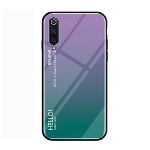 Gradient Color Glass Protective Case for Xiaomi Mi 9 (Purple)