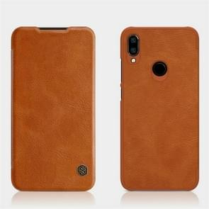NILLKIN Crazy Horse Texture Horizontal Flip Leather Case for Xiaomi Redmi Note 7 , with Card Slot (Brown)