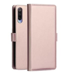 DZGOGO MILO Series PC + PU Horizontal Flip Leather Case for Xiaomi Mi 9, with Holder & Card Slot & Wallet (Rose Gold)