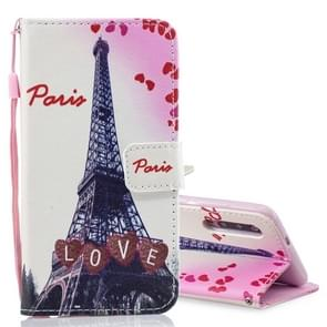 Love Tower Pattern Horizontal Flip Leather Case for Xiaomi Mi 9, with Holder & Card Slots & Wallet