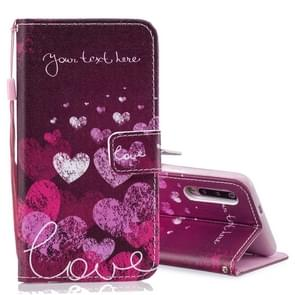 Letter and Heart Pattern Horizontal Flip Leather Case for Xiaomi Mi 9, with Holder & Card Slots & Wallet