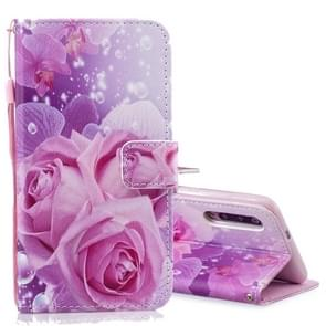 Rose Pattern Horizontal Flip Leather Case for Xiaomi Mi 9, with Holder & Card Slots & Wallet