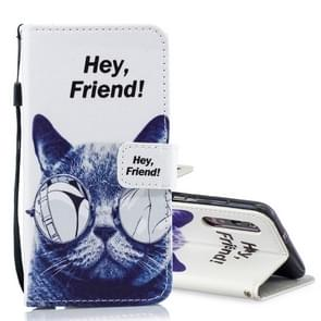 Cool Cat Pattern Horizontal Flip Leather Case for Xiaomi Mi 9, with Holder & Card Slots & Wallet