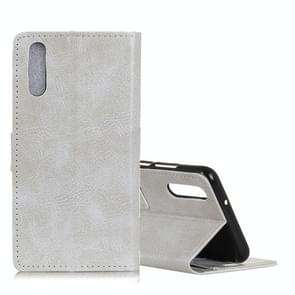 Retro Crazy Horse Texture Horizontal Flip Leather Case for Xiaomi 9 SE, with Holder & Card Slots & Photo Frame (White)