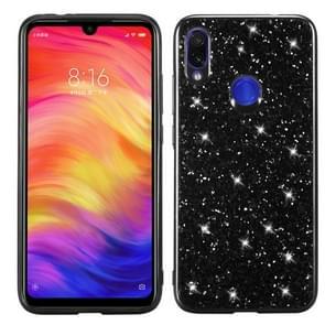 Glitter Powder Shockproof TPU Case for Xiaomi Redmi Note 7 (Black)