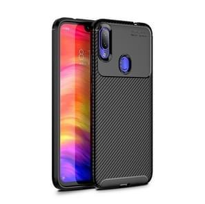 Carbon Fiber Texture Shockproof TPU Case for Xiaomi Redmi Note 7 (Black)