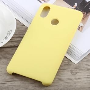 Ultra-thin Liquid Silicone Dropproof Protective Case for Xiaomi Mi Max 3(Yellow)