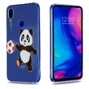 High Transparent Painted Football Panda Pattern TPU Case for Xiaomi Redmi Note 7 / Redmi Note 7 Pro