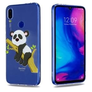 High Transparent Painted Panda on the Tree Pattern TPU Case for Xiaomi Redmi Note 7 / Redmi Note 7 Pro