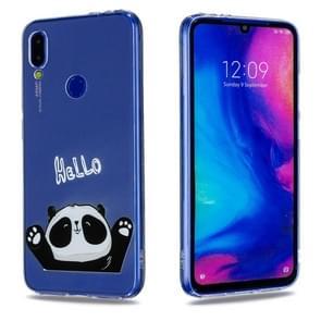 High Transparent Painted Hello Panda Pattern TPU Case for Xiaomi Redmi Note 7 / Redmi Note 7 Pro