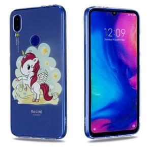 High Transparent Painted Unicorn Pattern TPU Case for Xiaomi Redmi Note 7 / Redmi Note 7 Pro