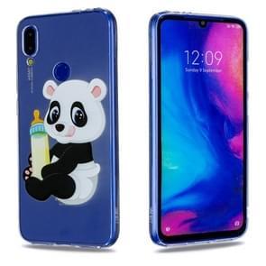 High Transparent Painted Bottle Panda Pattern TPU Case for Xiaomi Redmi Note 7 / Redmi Note 7 Pro