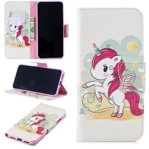 Colored Drawing Unicorn Pattern Horizontal Flip Leather Case for Xiaomi Redmi Note 7 / Redmi Note 7 Pro, with Holder & Card Slots & Wallet