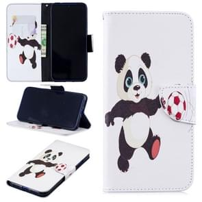 Colored Drawing Football Panda Pattern Horizontal Flip Leather Case for Xiaomi Redmi Note 7 / Redmi Note 7 Pro, with Holder & Card Slots & Wallet
