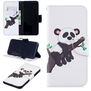 Colored Drawing Panda on the Tree Pattern Horizontal Flip Leather Case for Xiaomi Redmi Note 7 / Redmi Note 7 Pro, with Holder & Card Slots & Wallet