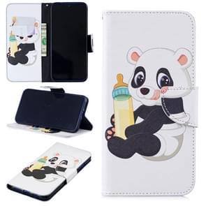 Gekleurde tekening fles Panda patroon horizontale Flip lederen case voor Xiaomi Redmi Note 7/Redmi Note 7 Pro  met houder & kaartsleuven & portemonnee