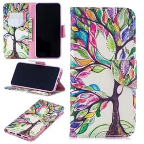 Colored Drawing Tree of Life Pattern Horizontal Flip Leather Case for Xiaomi Redmi Note 7 / Redmi Note 7 Pro, with Holder & Card Slots & Wallet