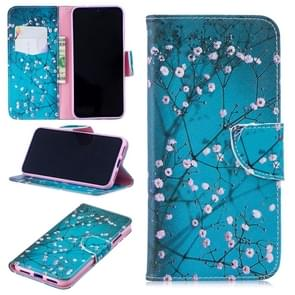 Colored Drawing Plum Blossom Pattern Horizontal Flip Leather Case for Xiaomi Redmi Note 7 / Redmi Note 7 Pro, with Holder & Card Slots & Wallet