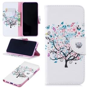 Colored Drawing Tree Pattern Horizontal Flip Leather Case for Xiaomi Redmi Note 7 / Redmi Note 7 Pro, with Holder & Card Slots & Wallet
