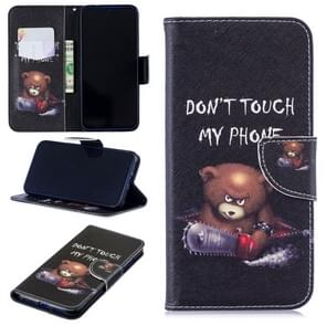 Colored Drawing Bear Pattern Horizontal Flip Leather Case for Xiaomi Redmi Note 7 / Redmi Note 7 Pro, with Holder & Card Slots & Wallet