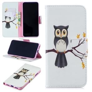 Colored Drawing Eagle on The Tree Pattern Horizontal Flip Leather Case for Xiaomi Redmi Note 7 / Redmi Note 7 Pro, with Holder & Card Slots & Wallet