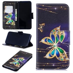Colored Drawing Big Butterfly Pattern Horizontal Flip Leather Case for Xiaomi Redmi Note 7 / Redmi Note 7 Pro, with Holder & Card Slots & Wallet