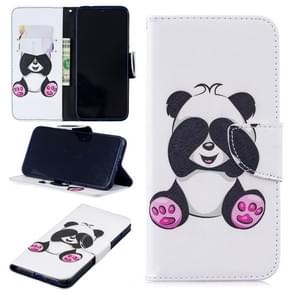 Colored Drawing Panda Pattern Horizontal Flip Leather Case for Xiaomi Redmi Note 7 / Redmi Note 7 Pro, with Holder & Card Slots & Wallet