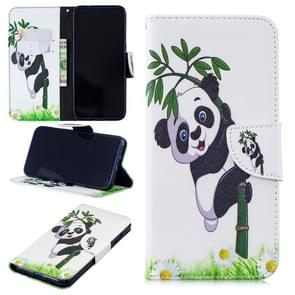 Colored Drawing Panda and Bamboo Pattern Horizontal Flip Leather Case for Xiaomi Redmi Note 7 / Redmi Note 7 Pro, with Holder & Card Slots & Wallet