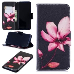 Colored Drawing Lotus Pattern Horizontal Flip Leather Case for Xiaomi Redmi Note 7 / Redmi Note 7 Pro, with Holder & Card Slots & Wallet