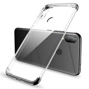 GKK Electroplating Transparent Case for Xiaomi Redmi Note 7 (Black)
