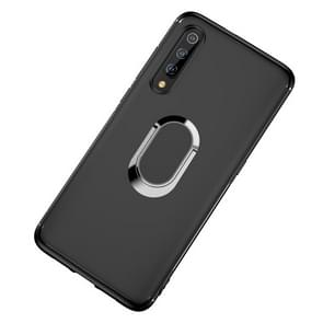 Shockproof TPU Full Protective Case for Xiaomi Mi 9, with 360 Degree Rotation Holder (Black)