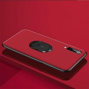 LONDOR Shockproof PC + TPU Case for Xiaomi Mi 9, with Metal Holder (Red)