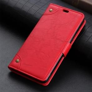 Copper Buckle Retro Crazy Horse Texture Horizontal Flip Leather Case for Xiaomi Redmi Note 7 / Note 7 Pro / Note 7S, with Holder & Card Slots & Wallet(Red)