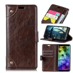 Copper Buckle Nappa Texture Horizontal Flip Leather Case for Xiaomi Redmi Note 7 / Redmi Note 7 Pro, with Holder & Card Slots & Wallet(Coffee)