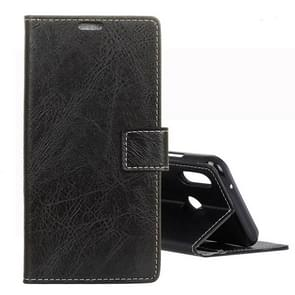 Retro Crazy Horse Texture Horizontal Flip Leather Case for Xiaomi Redmi Note 7 / Note 7 Pro / Note 7S, with Holder & Card Slots & Photo Frame(Black)