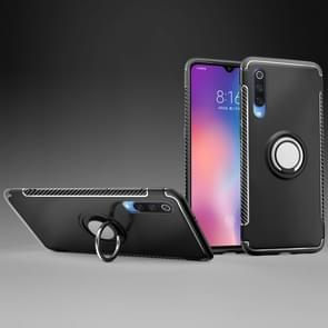 Magnetic Armor Protective Case for Xiaomi Mi 9, with 360 Degree Rotation Ring Holder(Black)