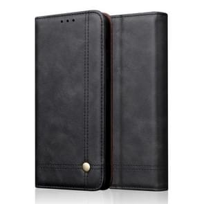 Casual Style Retro Crazy Horse Texture Horizontal Flip Leather Case for Xiaomi Redmi Note 7 / Note 7 Pro, with Card Slots & Holder & Wallet (Black)