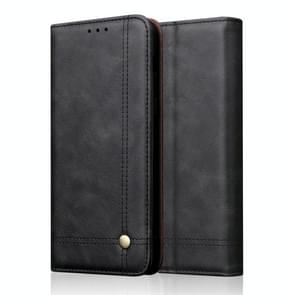 Casual Style Retro Crazy Horse Texture Horizontal Flip Leather Case for Xiaomi Mi 9, with Card Slots & Holder & Wallet (Black)