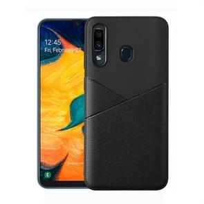 Ultra-thin Shockproof Soft TPU + Leather Case for Xiaomi Redmi Note 7 (Black)