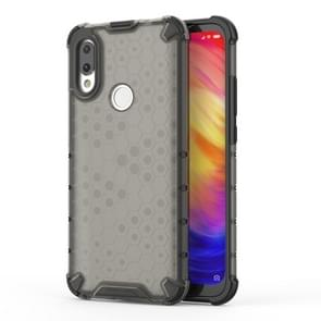 Shockproof Honeycomb PC + TPU Case for Xiaomi Redmi 7(Black)