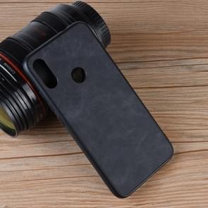 Shockproof Sheep Skin PC + PU + TPU Case for Xiaomi Redmi Note 7 (Black)