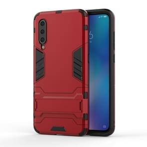 Shockproof PC + TPU Case for Xiaomi Mi 9, with Holder(Red)