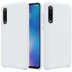 Solid Color Liquid Silicone Dropproof Protective Case for Xiaomi Mi 9(White)