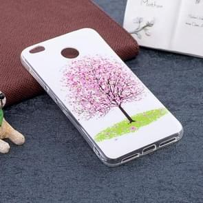 For Xiaomi  Redmi 4X Noctilucent Cherry Tree Pattern TPU Soft Back Case Protective Cover